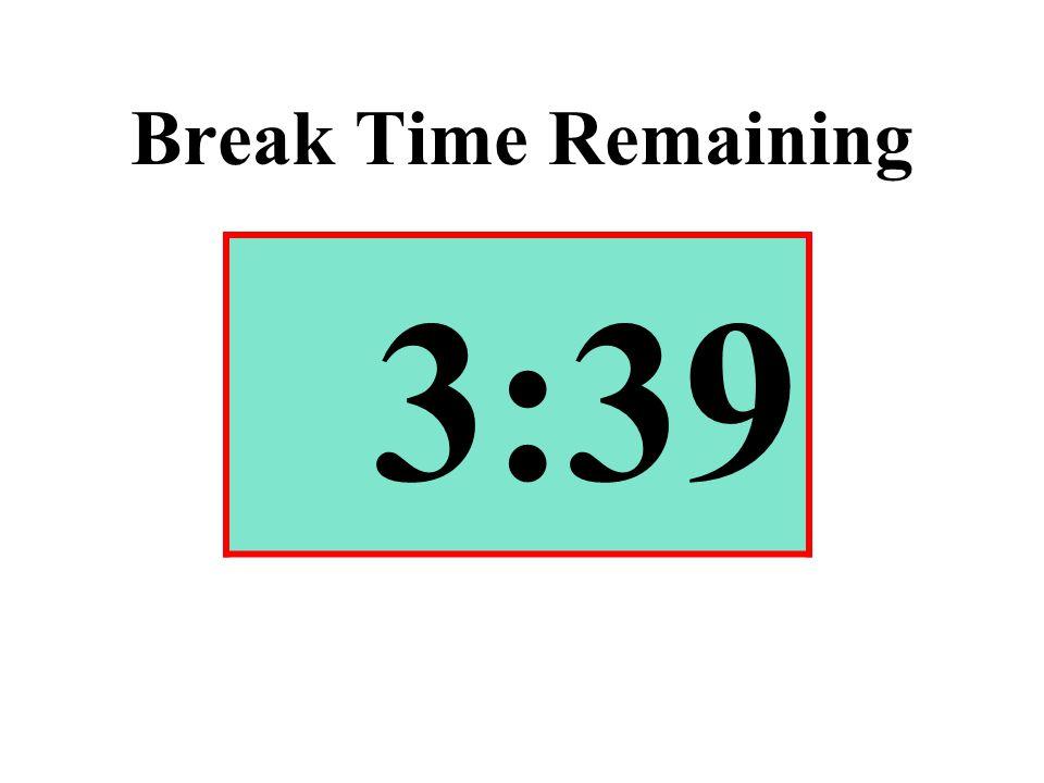 Break Time Remaining 3:39