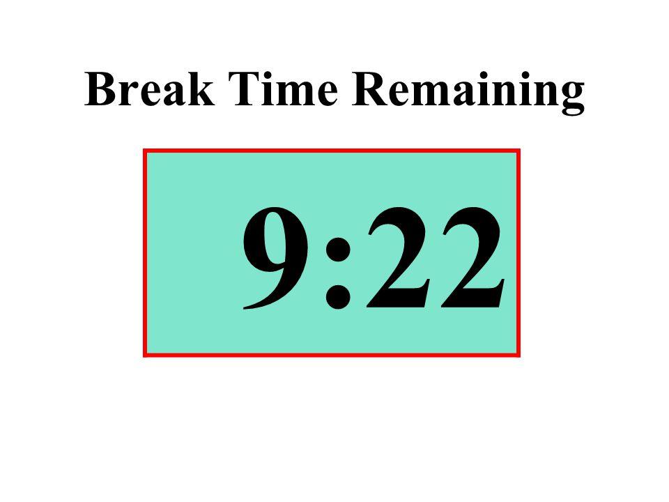 Break Time Remaining 9:22