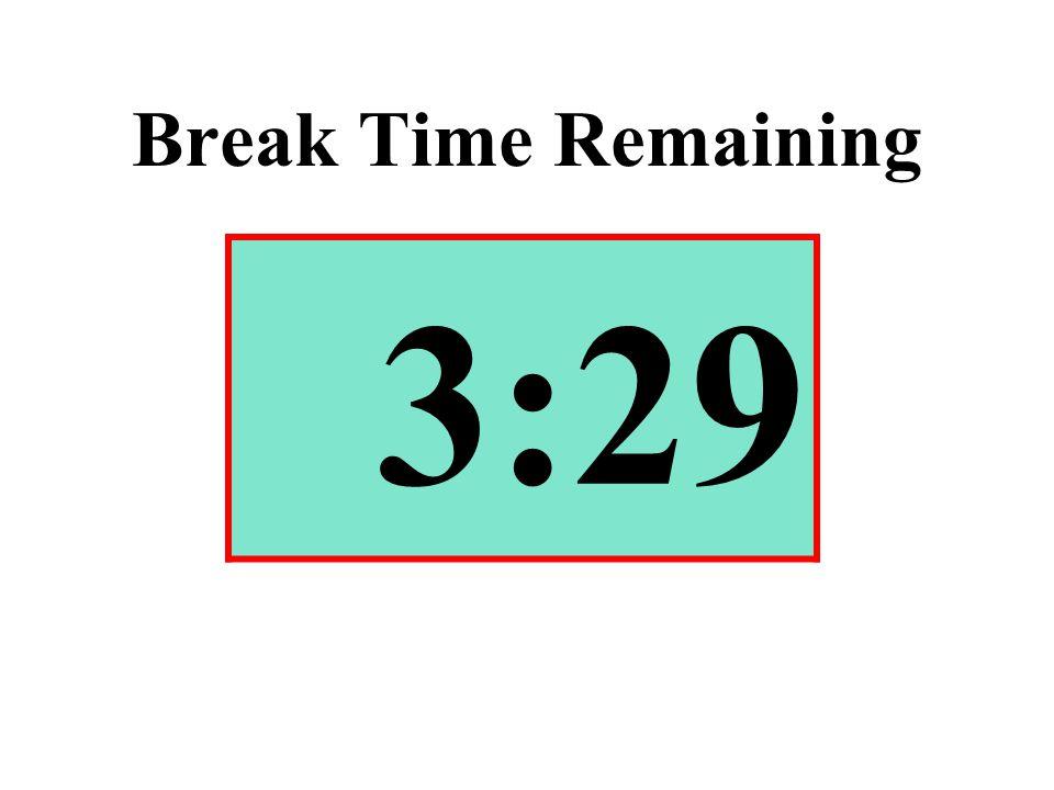 Break Time Remaining 3:29