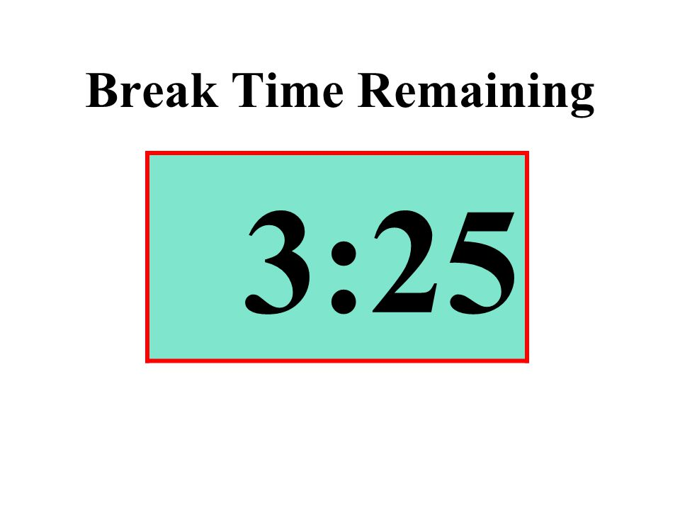Break Time Remaining 3:25