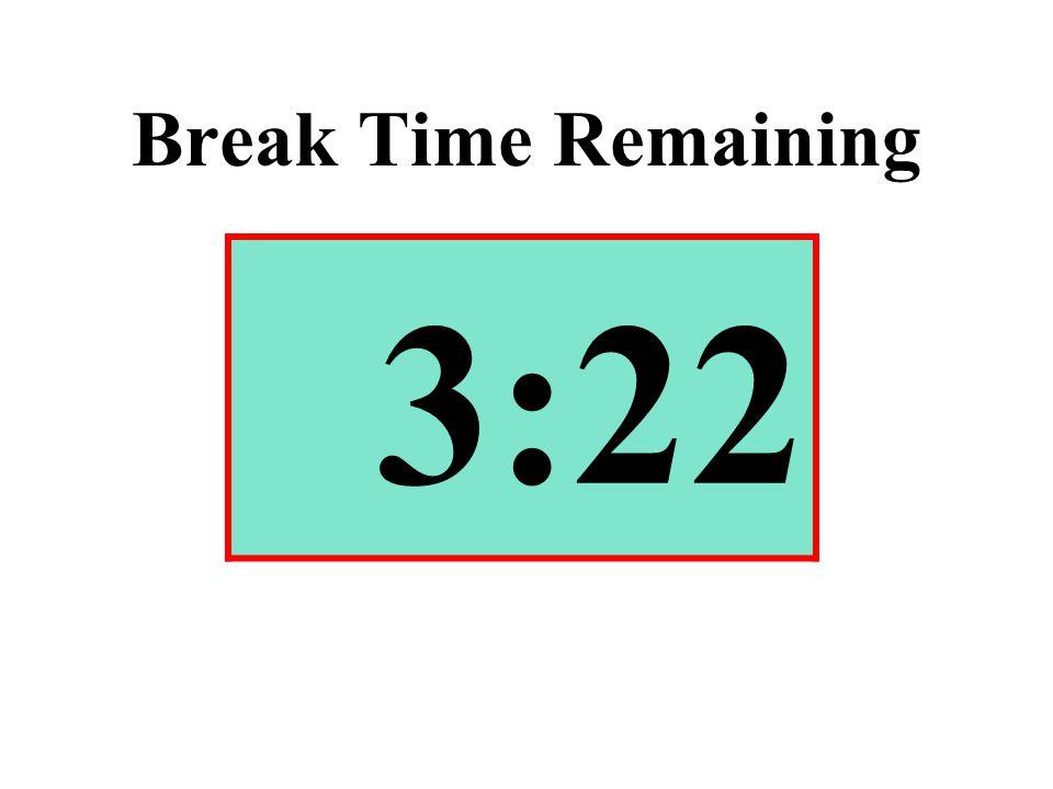 Break Time Remaining 3:22