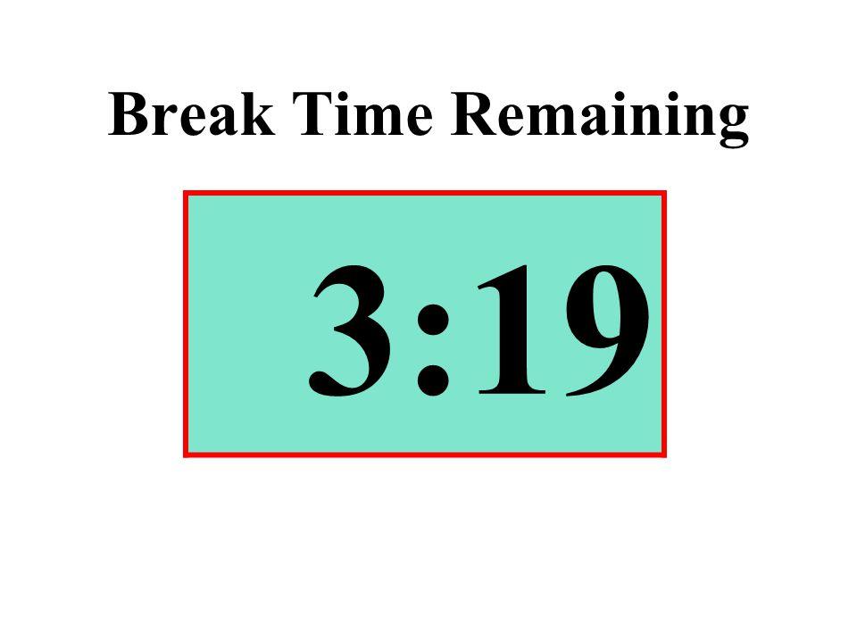 Break Time Remaining 3:19