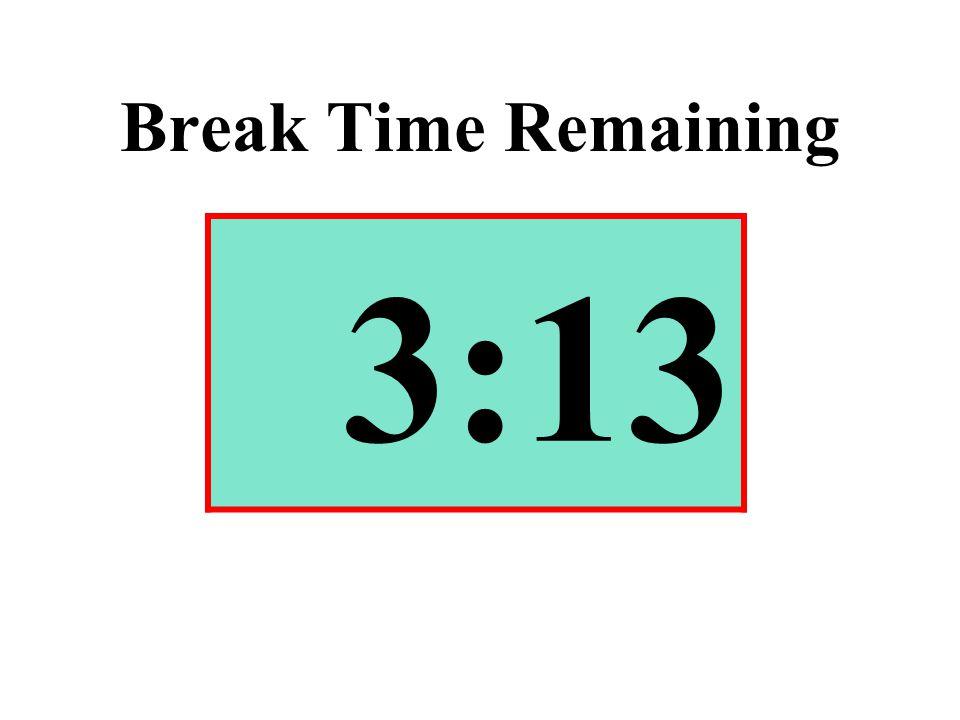 Break Time Remaining 3:13