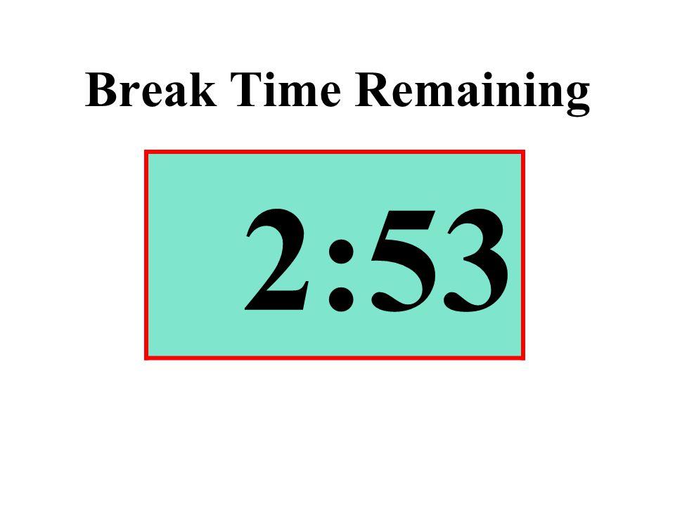 Break Time Remaining 2:53