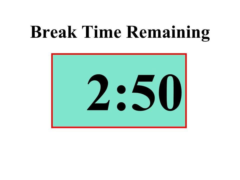 Break Time Remaining 2:50