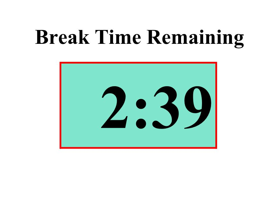 Break Time Remaining 2:39