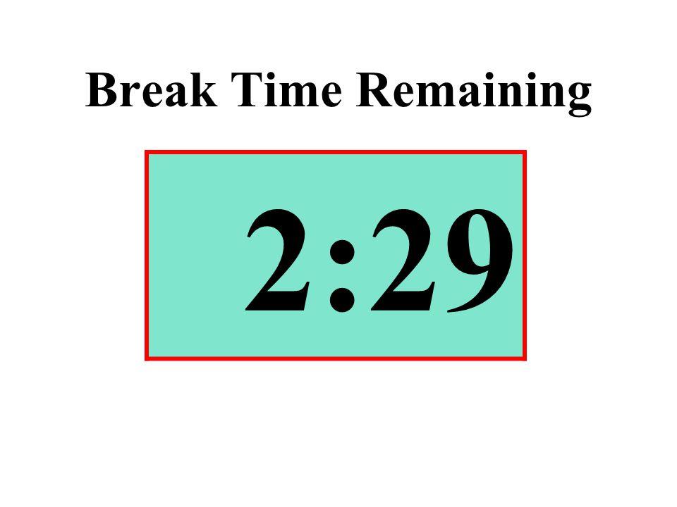 Break Time Remaining 2:29
