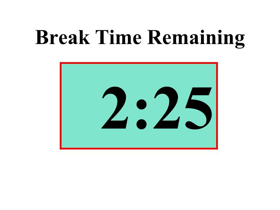 Break Time Remaining 2:25