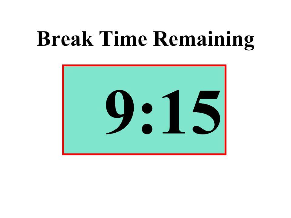 Break Time Remaining 9:15