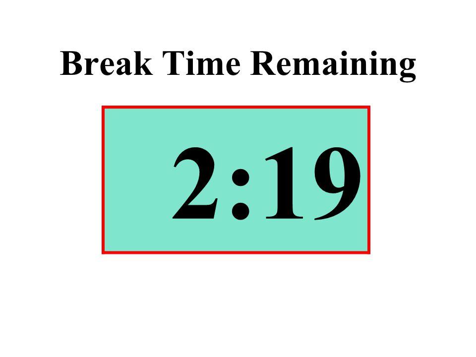 Break Time Remaining 2:19