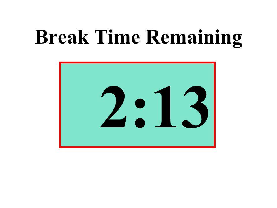 Break Time Remaining 2:13