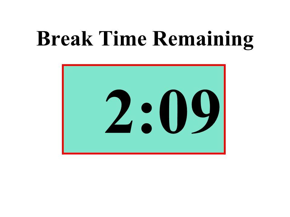 Break Time Remaining 2:09