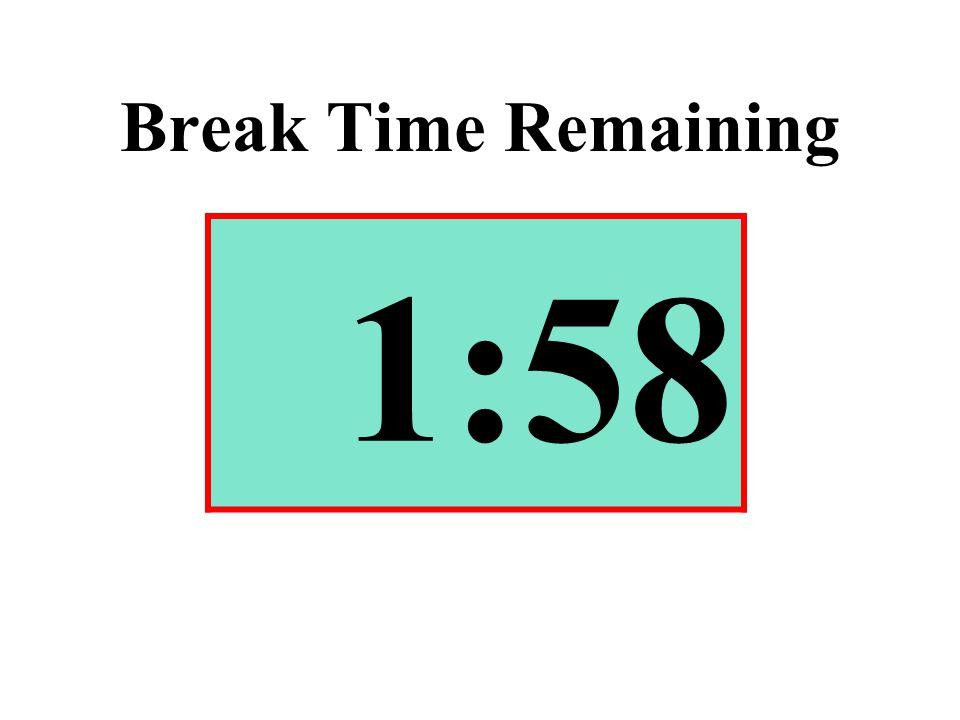 Break Time Remaining 1:58