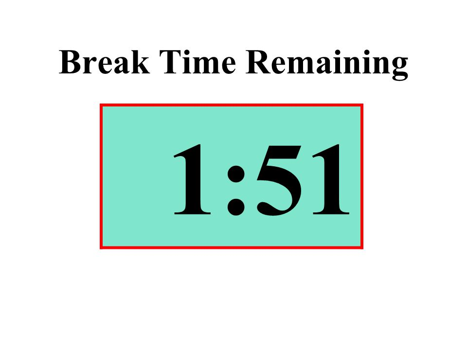 Break Time Remaining 1:51