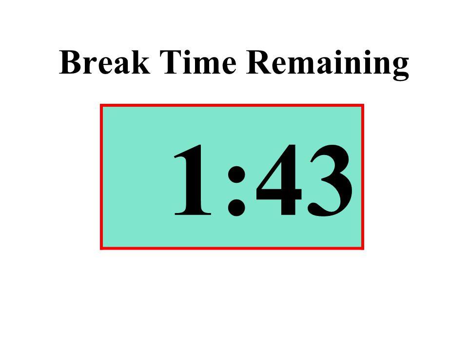 Break Time Remaining 1:43