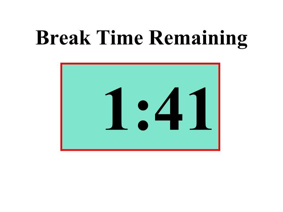 Break Time Remaining 1:41