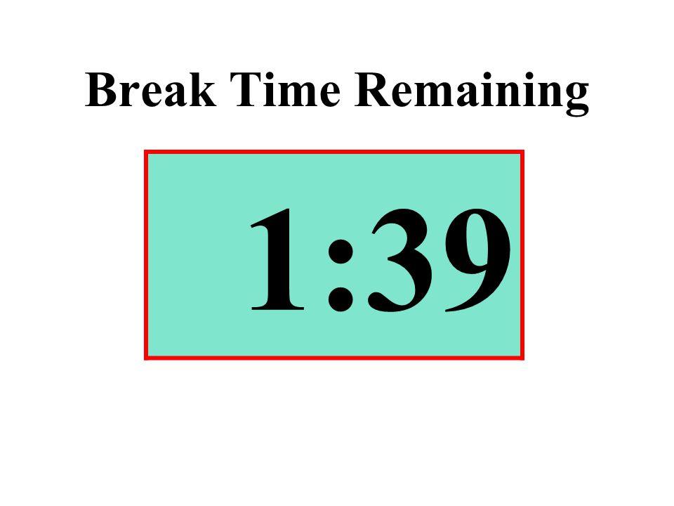 Break Time Remaining 1:39