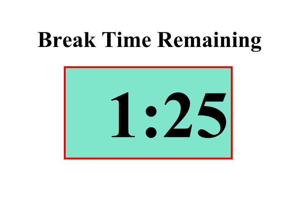 Break Time Remaining 1:25