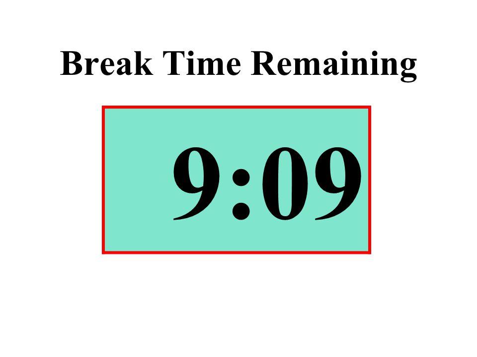 Break Time Remaining 9:09