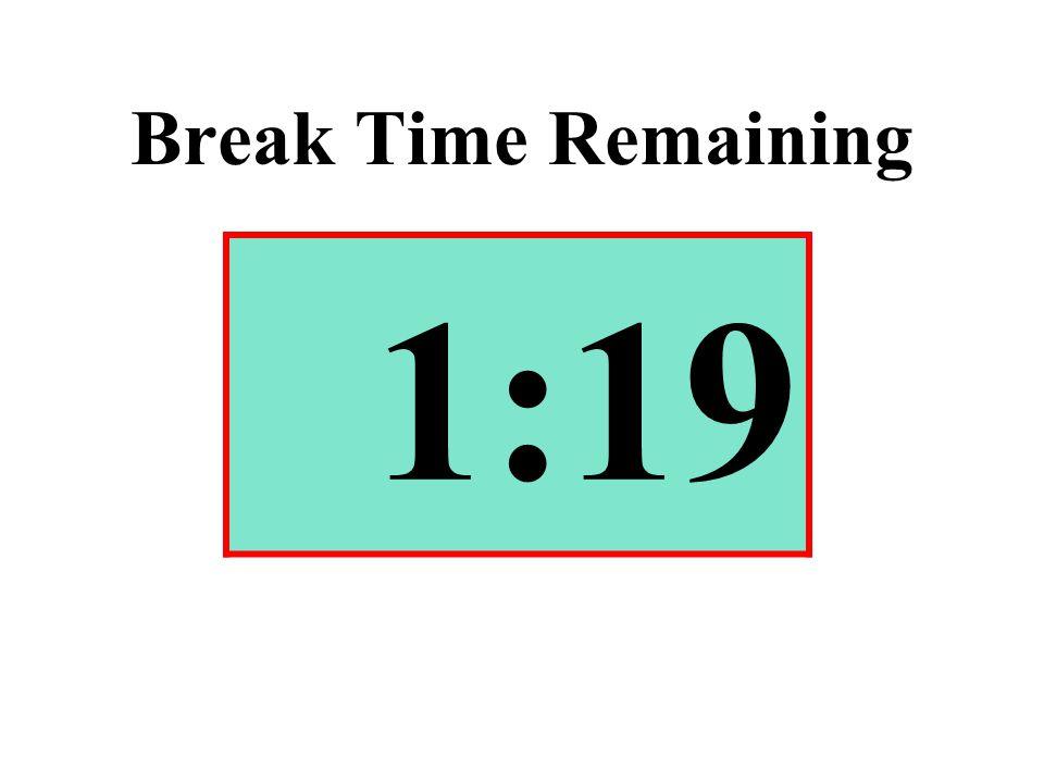 Break Time Remaining 1:19