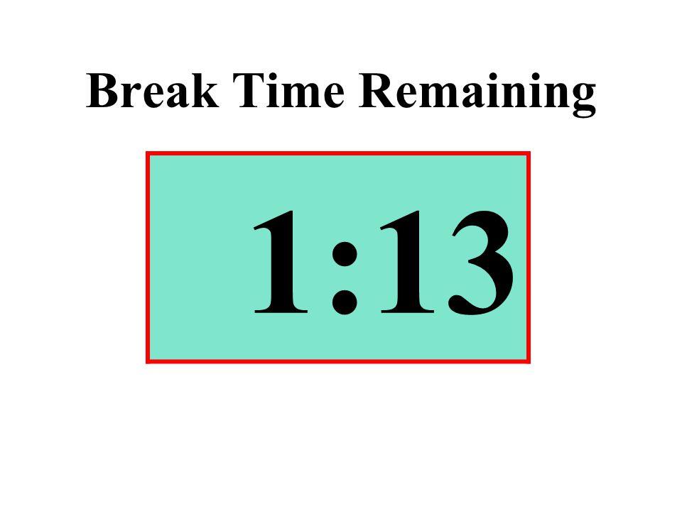 Break Time Remaining 1:13