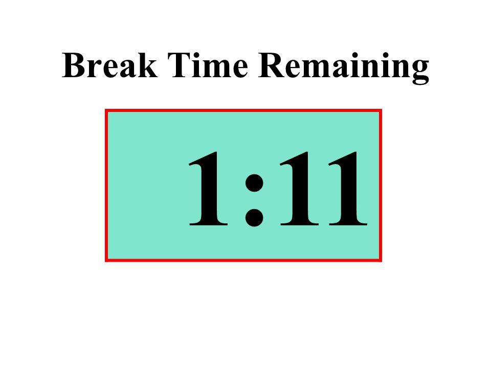Break Time Remaining 1:11