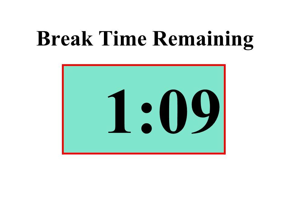 Break Time Remaining 1:09