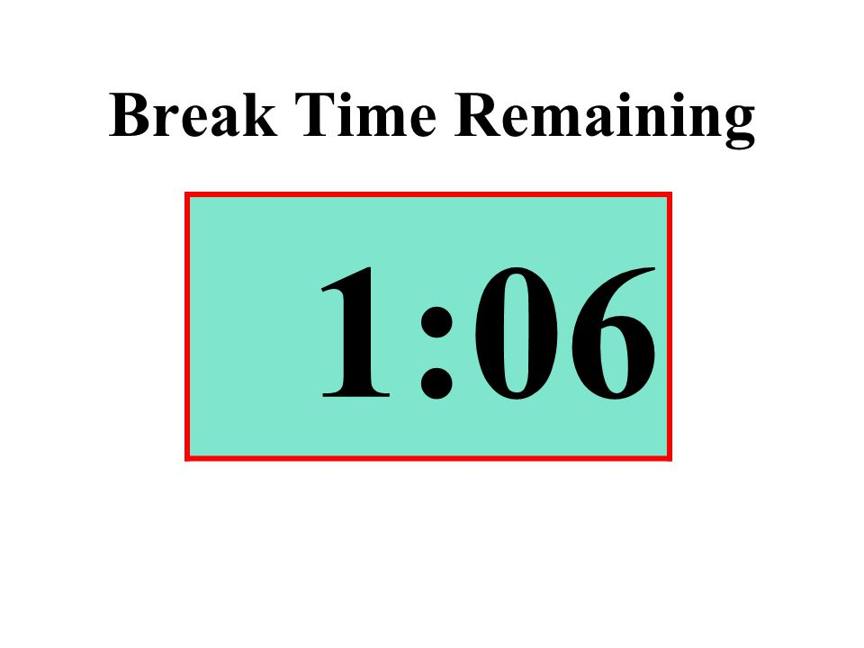 Break Time Remaining 1:06