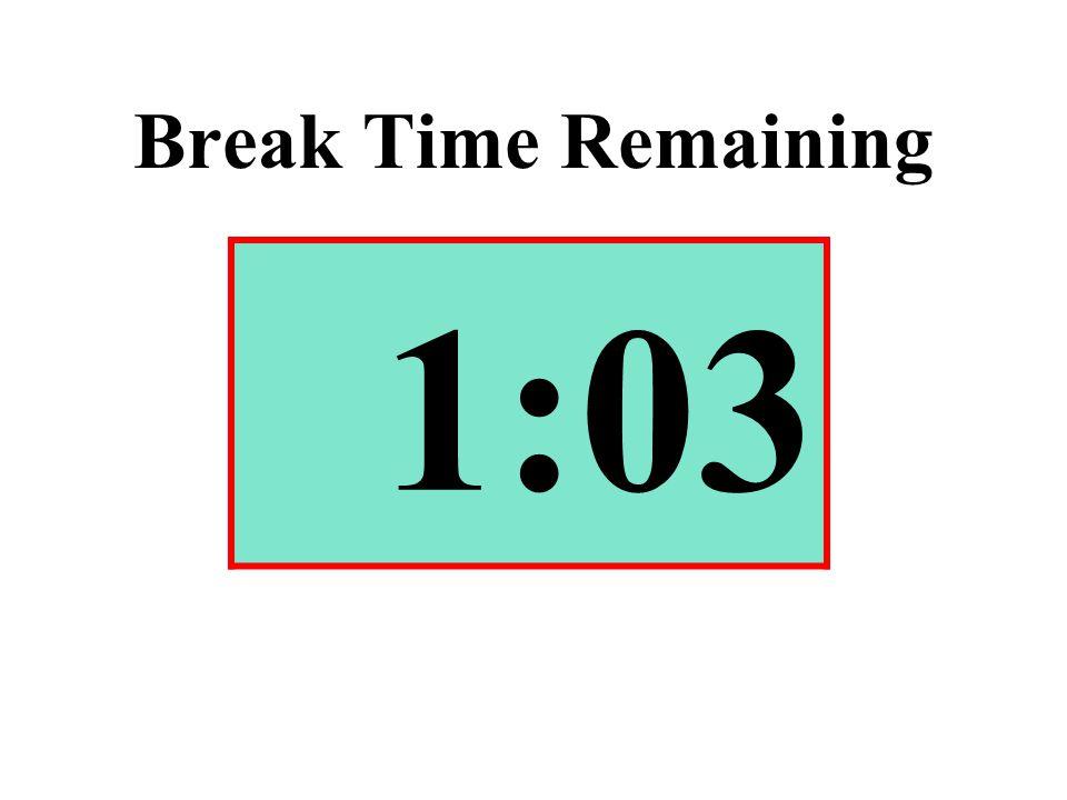 Break Time Remaining 1:03