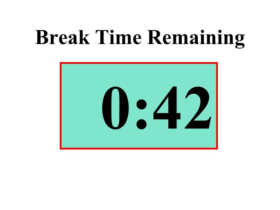 Break Time Remaining 0:42