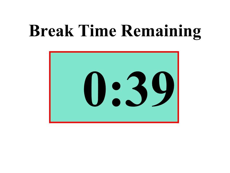 Break Time Remaining 0:39