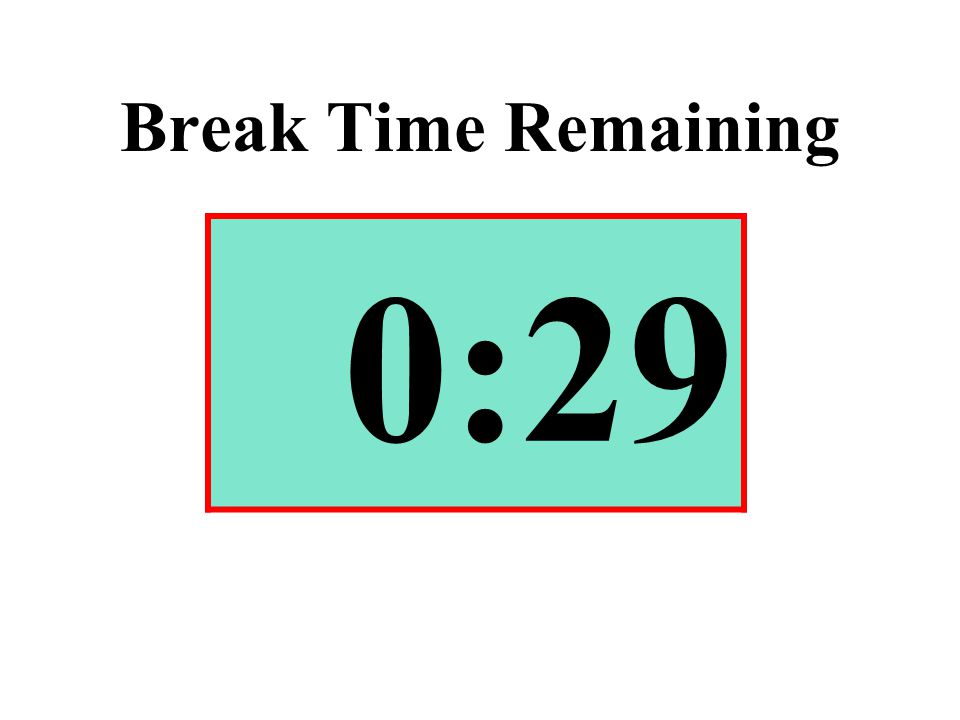 Break Time Remaining 0:29