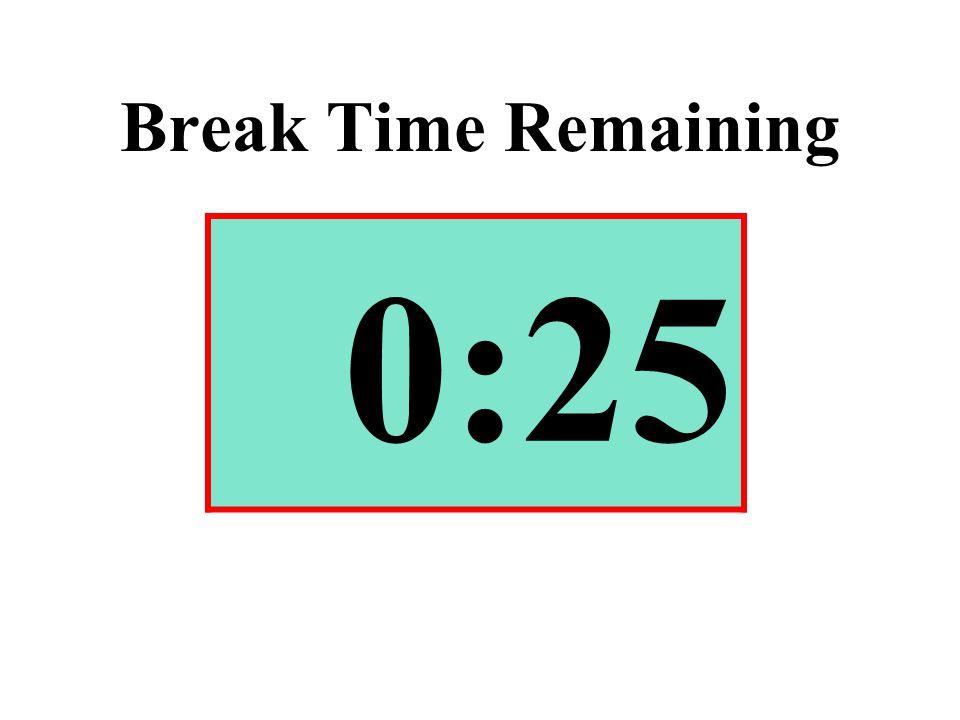 Break Time Remaining 0:25