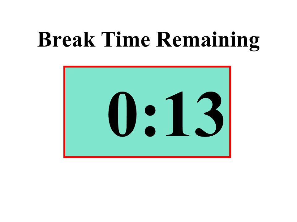 Break Time Remaining 0:13