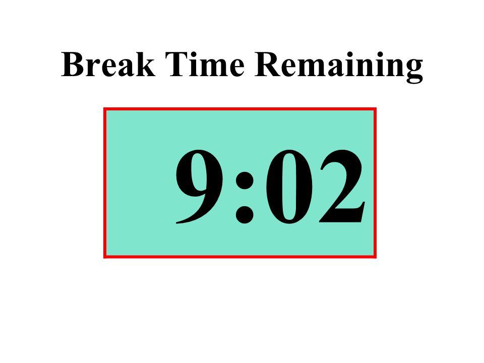 Break Time Remaining 9:02