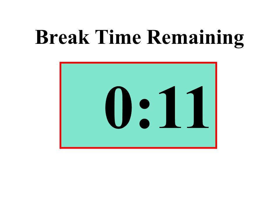 Break Time Remaining 0:11