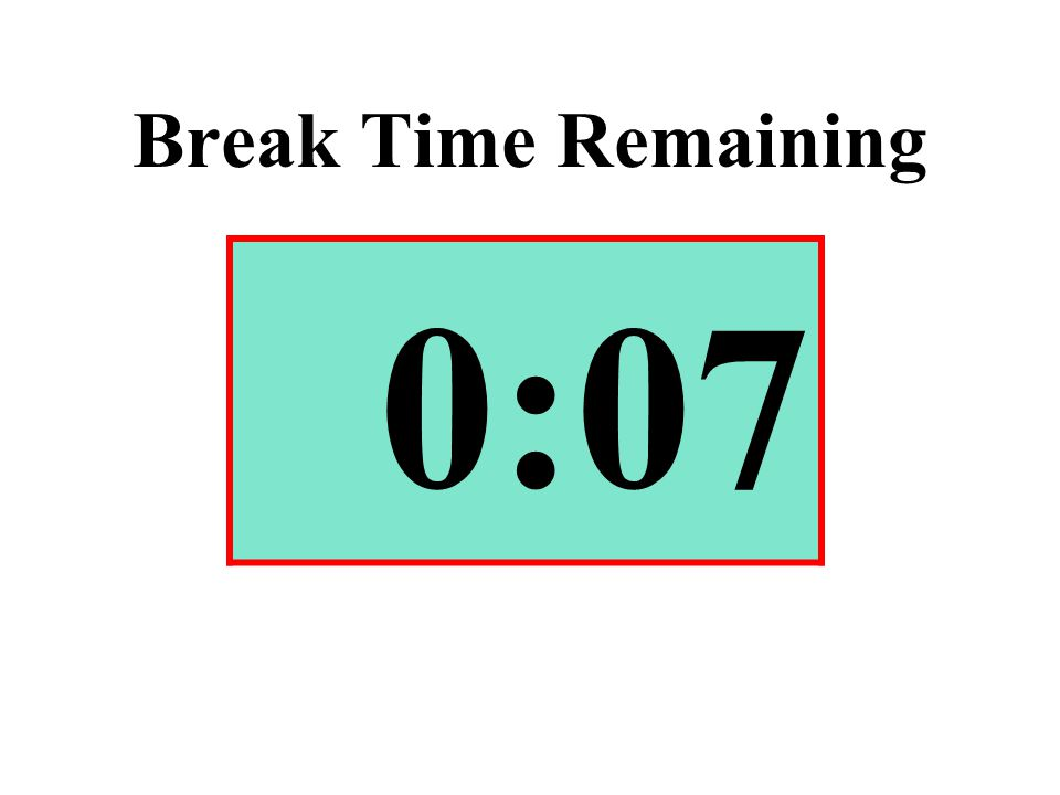 Break Time Remaining 0:07