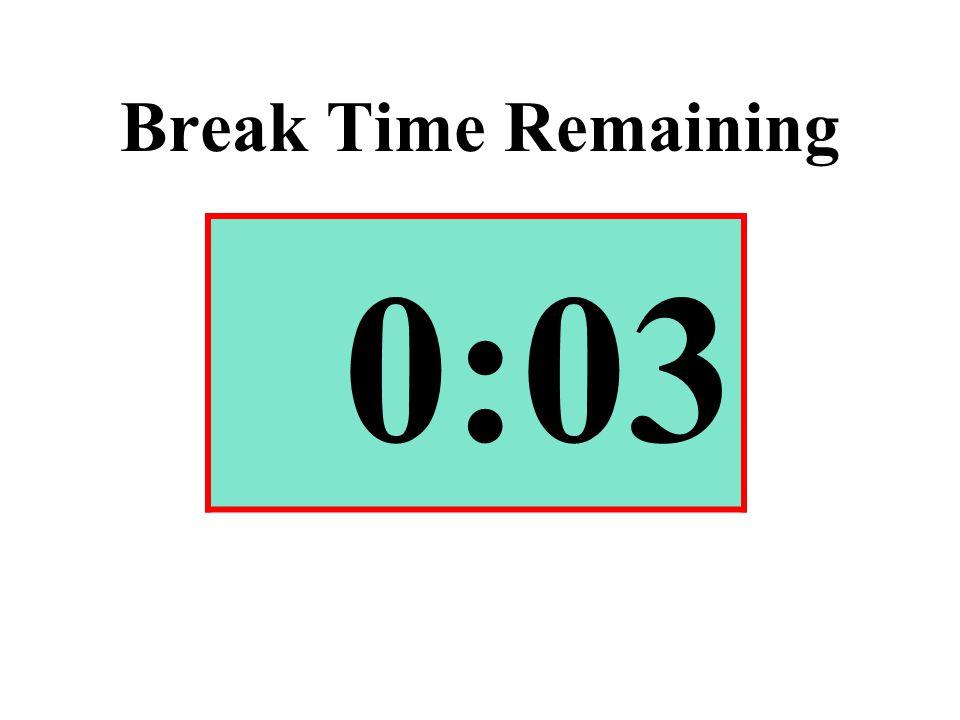 Break Time Remaining 0:03