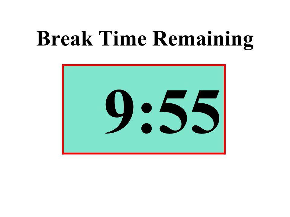 Break Time Remaining 9:55