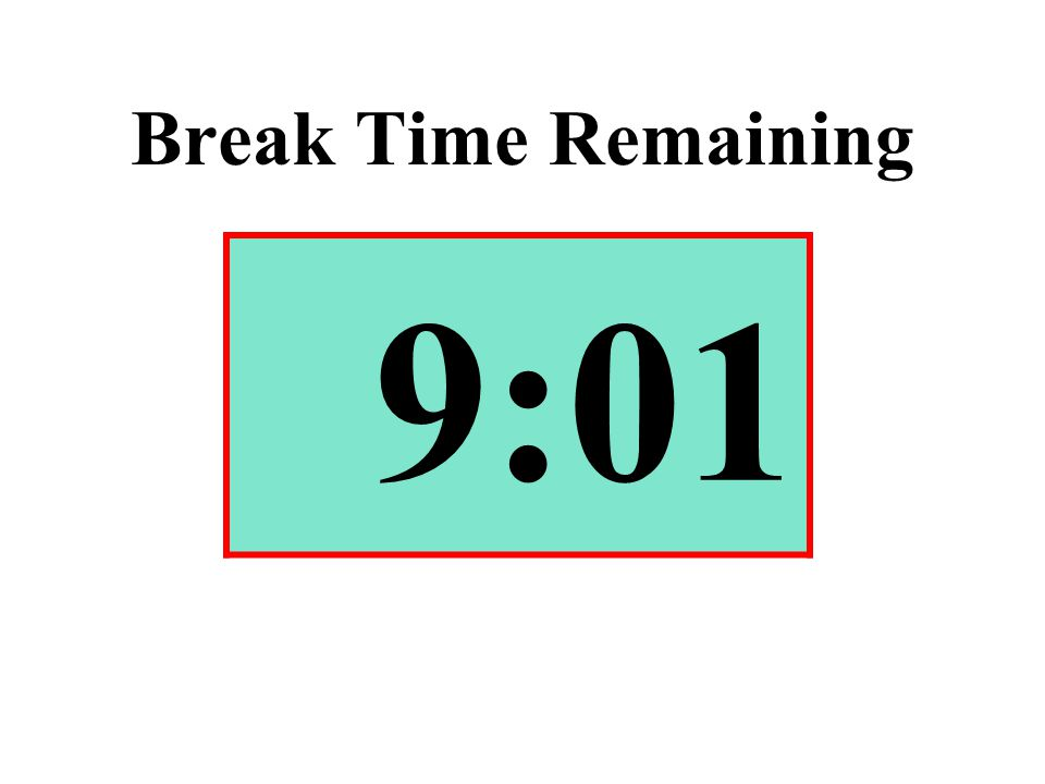 Break Time Remaining 9:01