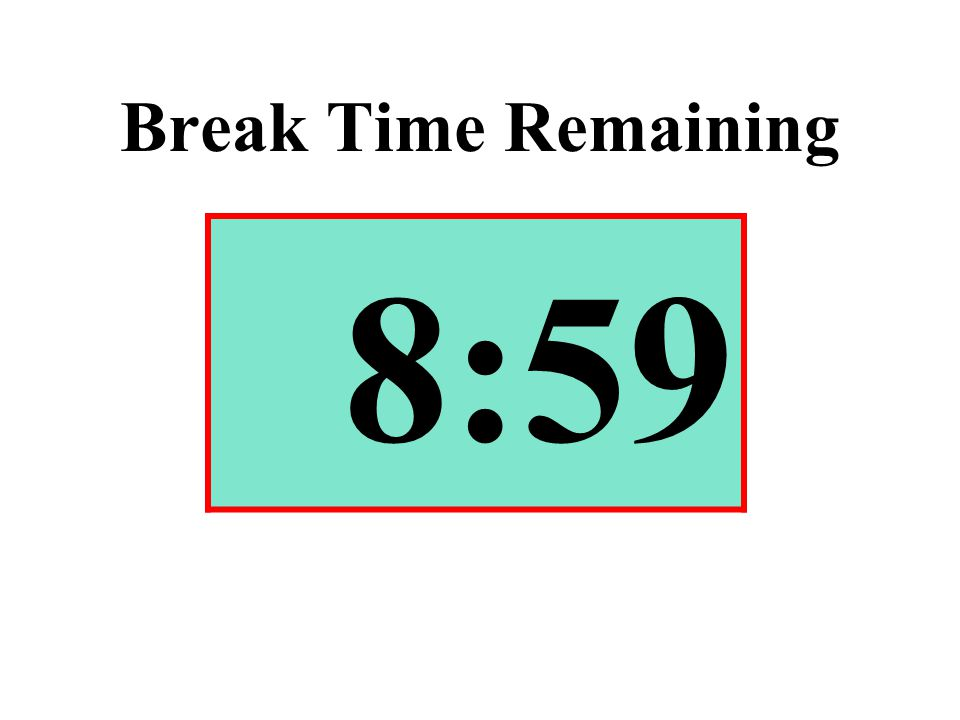 Break Time Remaining 8:59