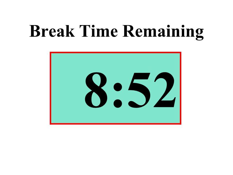 Break Time Remaining 8:52