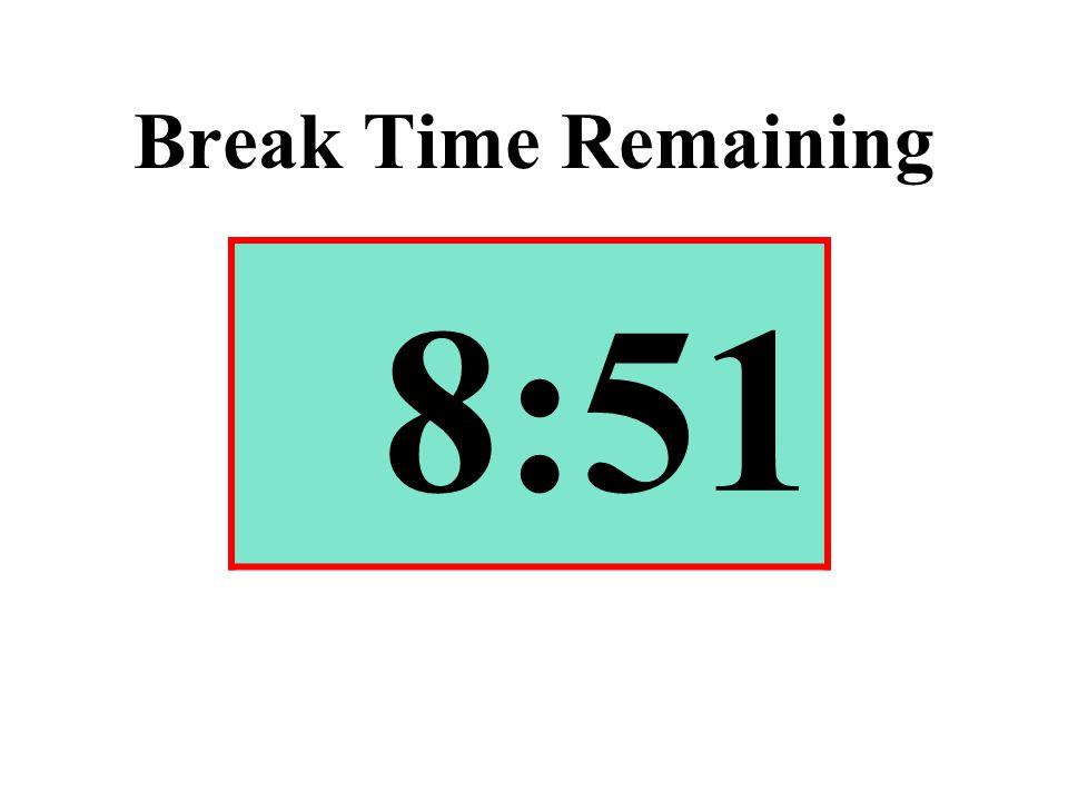 Break Time Remaining 8:51