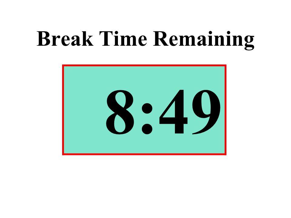 Break Time Remaining 8:49