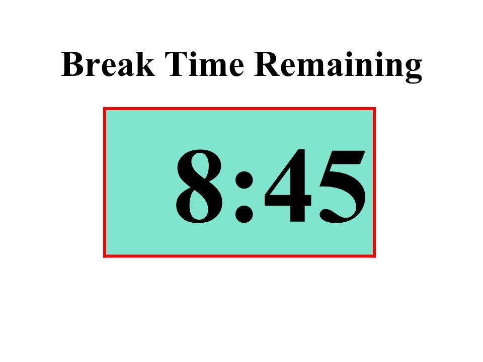 Break Time Remaining 8:45