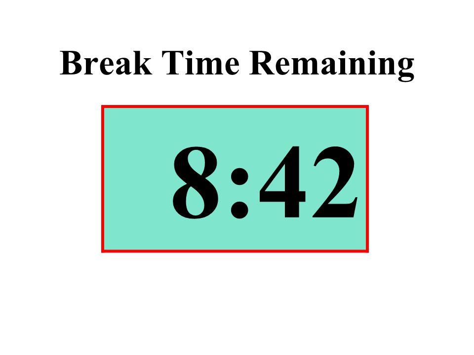 Break Time Remaining 8:42