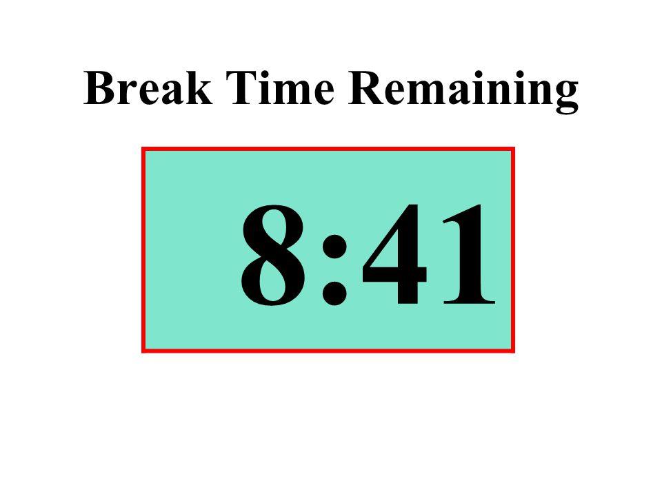 Break Time Remaining 8:41