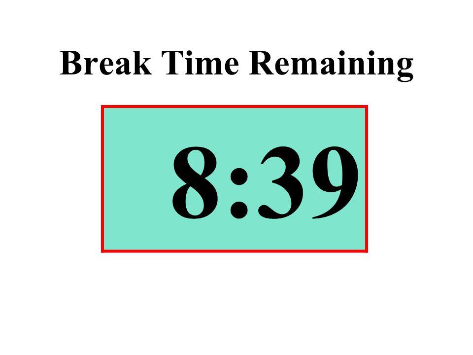 Break Time Remaining 8:39
