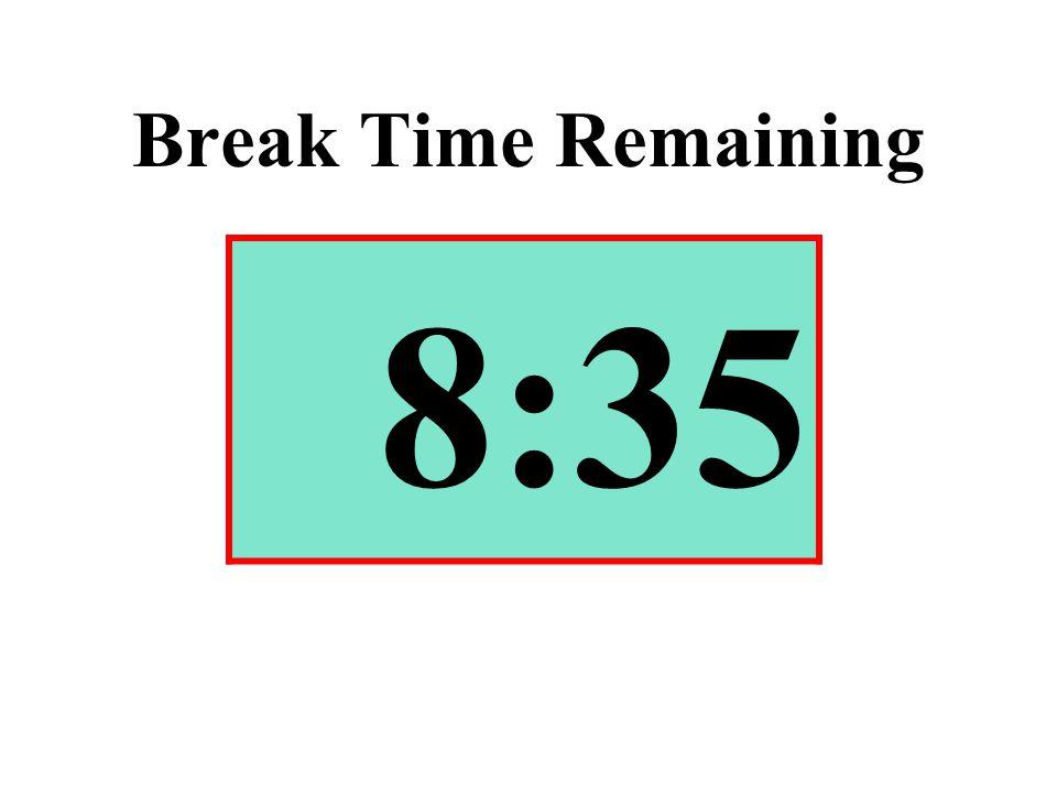 Break Time Remaining 8:35