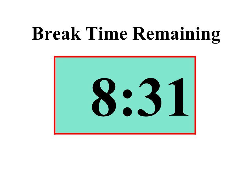 Break Time Remaining 8:31